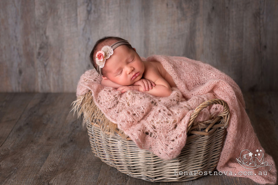 Northern Beaches Photographer - Newborn Baby Photography by Lena Postnova - 1 week new baby girl