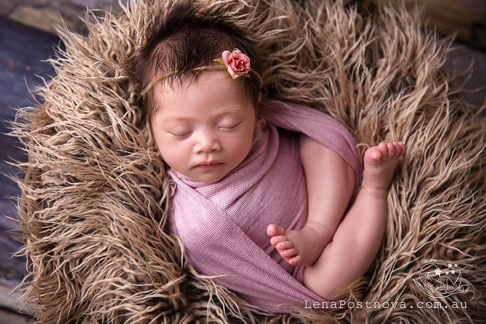 Baby Photographer Sydney North - Newborn Photography by Lena Postnova - 4 weeks old cute newborn