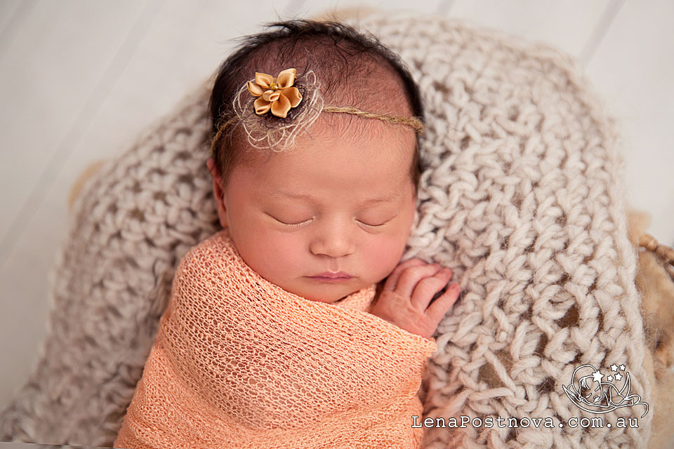 swaddled-sleeping-newborn-baby-by-newborn-photographer-sydney