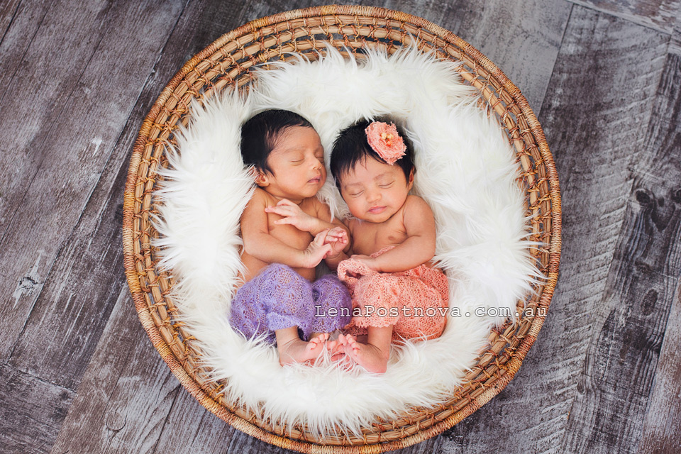 Twin newborn photography Sydney  - Newborn_Photography_Sydney_Newborn_Photographer_Lena_Postnova_Twins_Babies_Shivaani_Yashraaj_1_month_old_001