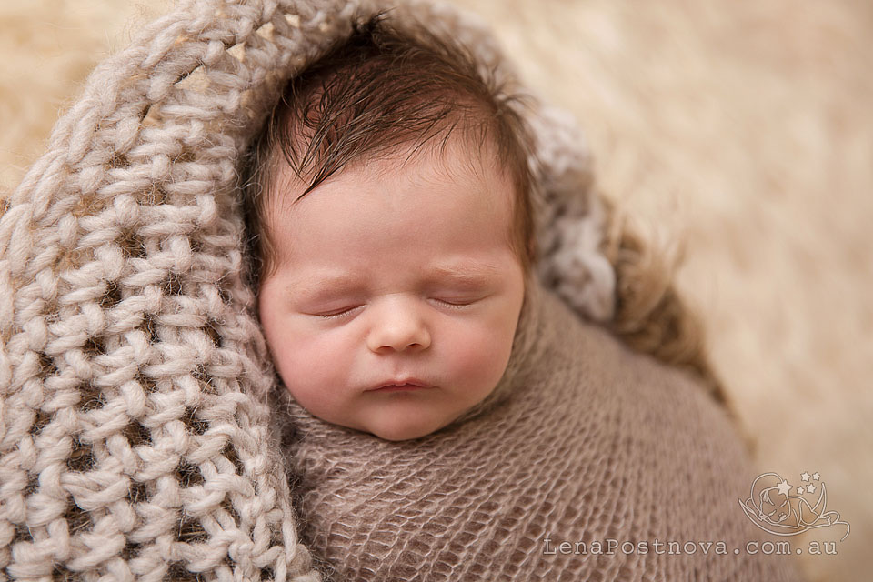 Baby Photographer Sydney - newborn photography - baby boy portrait