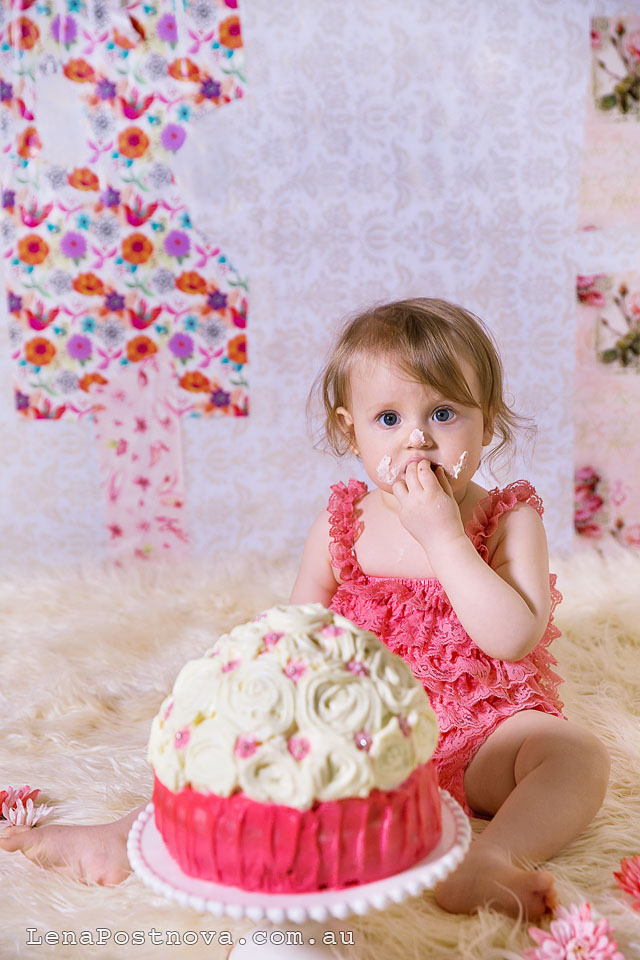 Cake Smash Photography Session by Sydney Newborn  Photographer Lena Postnova - First Birthday photos 09