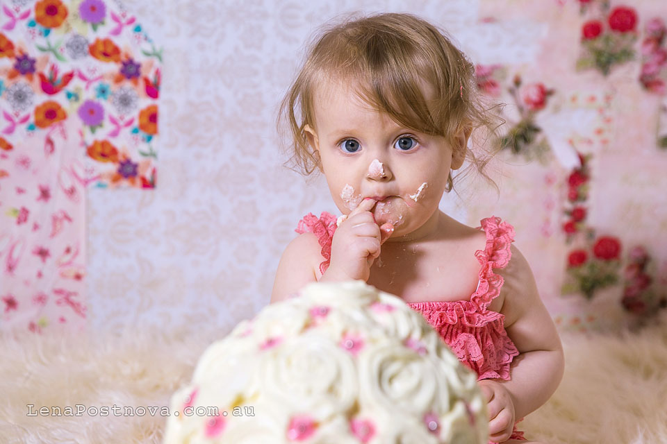 Sydney Newborn  Photographer Lena Postnova - First Birthday photos 010