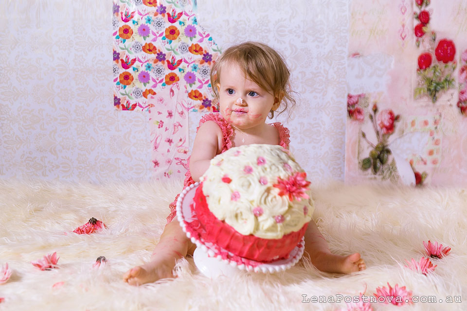 Cake Smash Photography Session by Sydney Newborn  Photographer Lena Postnova - First Birthday photos 012