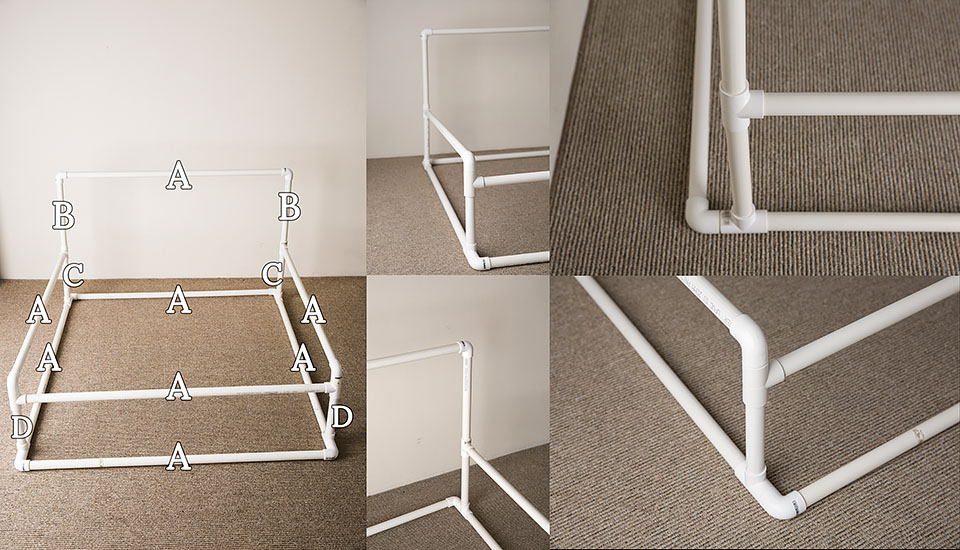 Diy pvc newborn photography backdrop stand with the front rail by lena postnova sydney baby photographer